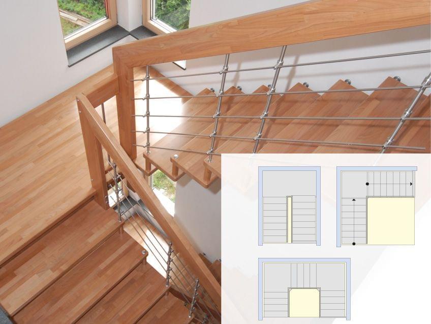 grundriss podesttreppen treppenmeister. Black Bedroom Furniture Sets. Home Design Ideas